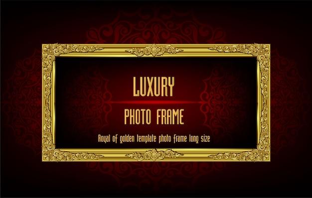 Royal van gouden sjabloon fotolijstjes