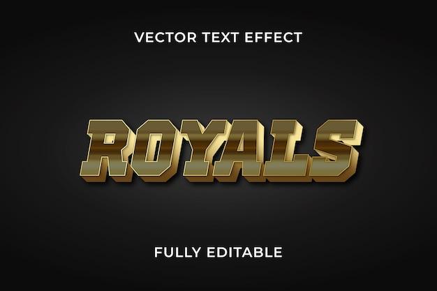 Royals teksteffect