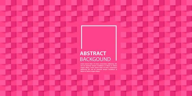 Roze 3d papier stijl achtergrond