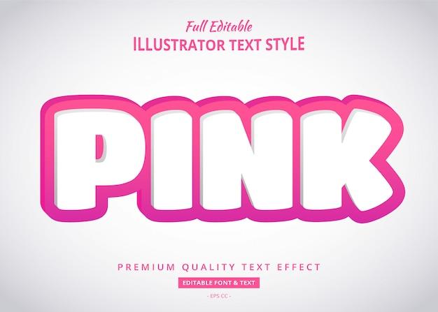 Roze 3d-tekststijleffect