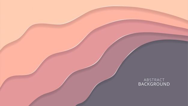 Roze abstracte achtergrond met papercutstijl