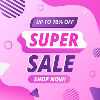 Roze abstracte verkooppromotie