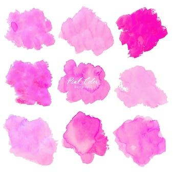 Roze abstracte waterverfachtergrond.