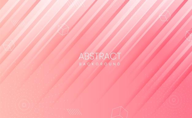 Roze achtergrond met abstracte vormen en verloop