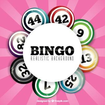 Roze achtergrond met bingo nummers