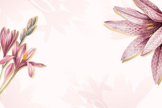 Roze amaryllis patroon achtergrond vector