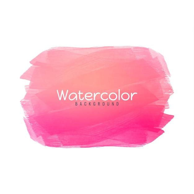 Roze aquarel ontwerp achtergrond