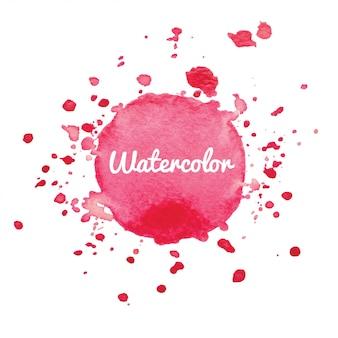 Roze aquarel splash achtergrond