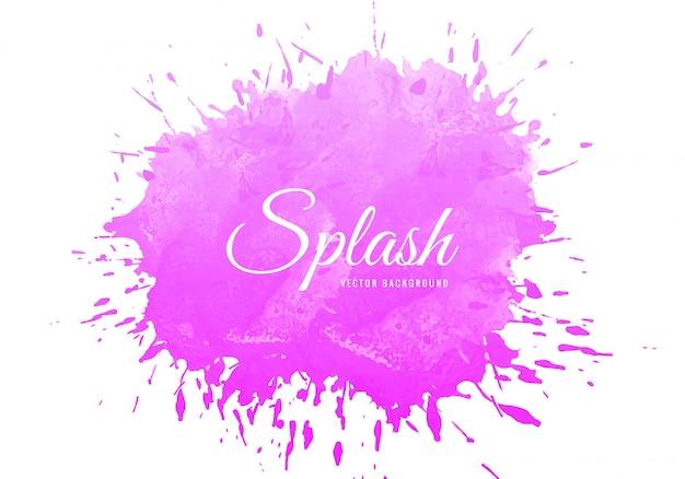 Roze aquarel splash textuur achtergrond