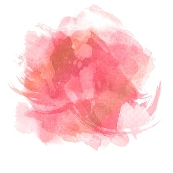 Roze aquarel splatter ontwerp achtergrond