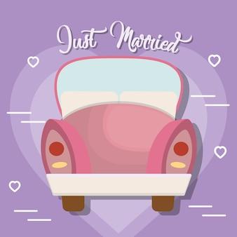 Roze auto pictogram
