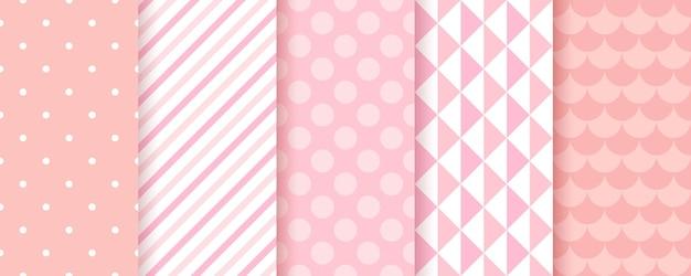 Roze baby showerachtergronden voor meisjes
