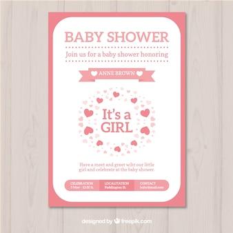 Roze baby showerontwerp