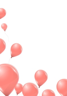 Roze ballonnen geïsoleerd op witte achtergrond