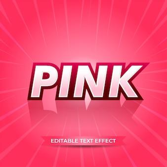 Roze bewerkbaar teksteffect