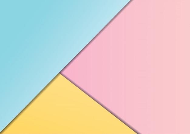 Roze, blauwe en gele pastel achtergrond met lege ruimte voor uw ontwerp