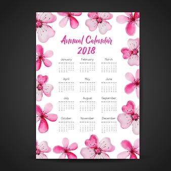 Roze bloem kalender 2018