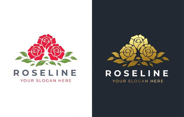 Roze bloem logo ontwerp