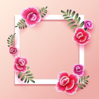 Roze bloem met kopie ruimte