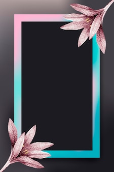 Roze bloem met roze en blauw frame