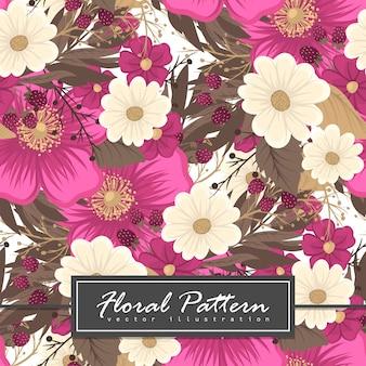 Roze bloem naadloze achtergrond