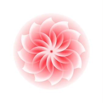 Roze bloem pictogram