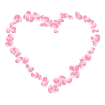 Roze bloemblaadjeshart.