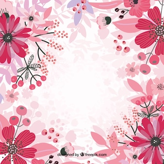 Roze bloemen achtergrond vector
