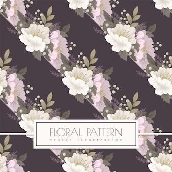 Roze bloemen naadloos patroon als achtergrond