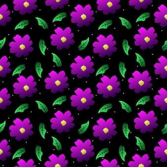 Roze bloemen naadloze patroon achtergrond