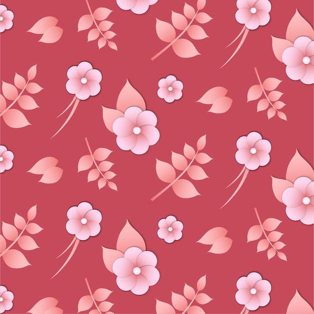 Roze bloemen naadloze patroon
