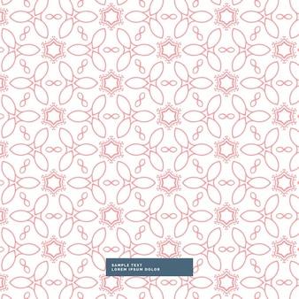 Roze bloemen stijl patroon achtergrond