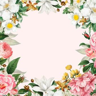 Roze bloemenframe