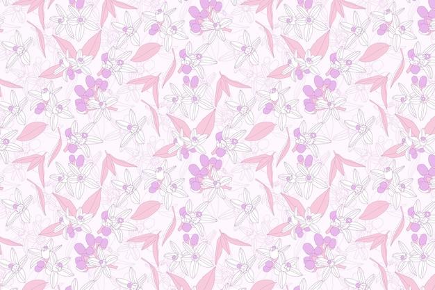 Roze bloemenpatroonbehang
