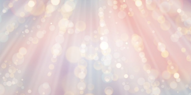 Roze bokeh abstracte lichte achtergrond Premium Vector