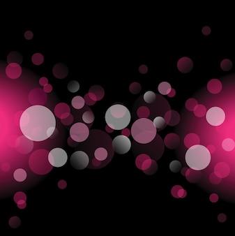Roze cirkel en zwarte achtergrond vector