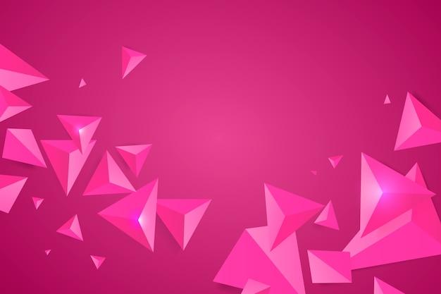 Roze driehoeksachtergrond met levendige kleuren