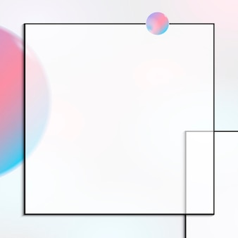 Roze en blauw vierkant frame-ontwerp