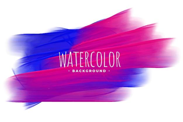 Roze en blauwe aquarel abstracte textuur achtergrond