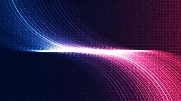 Roze en blauwe elektronische geluidstechnologie