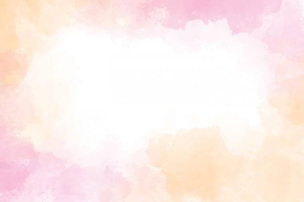 Roze en gouden natte wasplons aquarel frame achtergrond