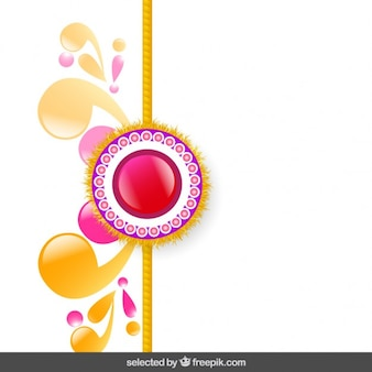 Roze en gouden rakhi achtergrond