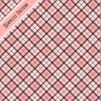 Roze en grijs tartan naadloze patroon