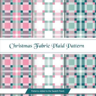 Roze en groen geruit tartan naadloos patroon in vector voor het bedrukken van overhemden, jacquardpatronen, afbeeldingen
