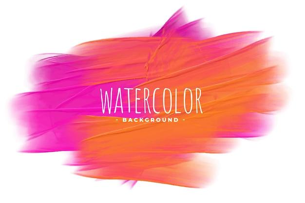 Roze en oranje aquarel textuur vlek achtergrond