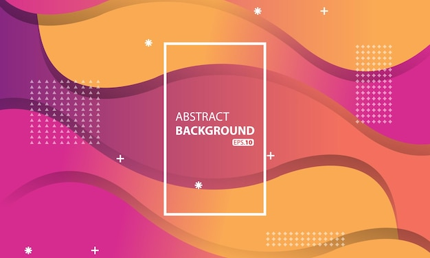 Roze en oranje vloeibare kleur achtergrond. golvende geometrische achtergrond. dynamisch getextureerd geometrisch element ontwerp.