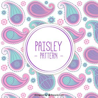 Roze en paars paisley patroon