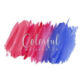 Roze en paarse aquarel lijnen