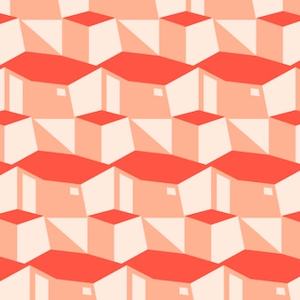 Roze en rood geometrisch patroon