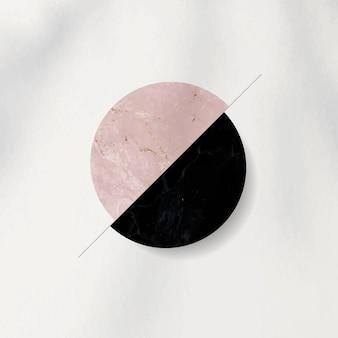 Roze en zwarte tweekleurige cirkel gevormde achtergrond